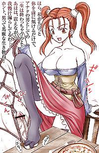 Anime style: ballbusting