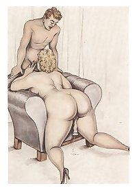 vintage drawings new serie