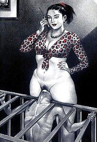 femdom facesitting drawing