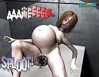 3D Comic: Spermaliens 1. Part 2