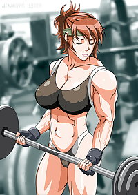 Muscle babe hentai art!