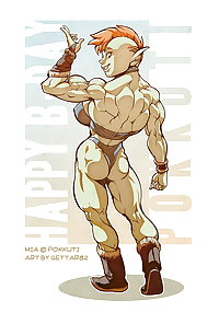 Muscle babe hentai art!