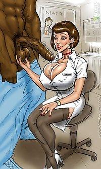 Nurse VS Big Black Cock