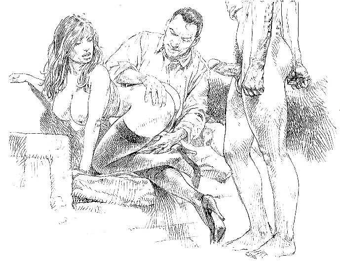 Порно жена рисованная